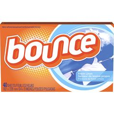Amaciante em Folha para Secadora de Roupas Bounce Fresh Linen 40 Folhas - Procter & Gamble
