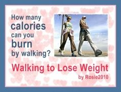 - Walking to lose weight, by Rosie2010 on Hubpages -