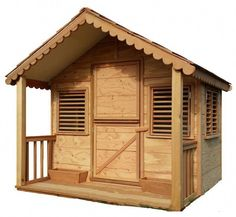 x 6 ft. Little Alexandra& Cottage Deluxe Playhouse Kit with Covered Front Porch at The Home Depot - Mobile Cedar Playhouse, Kids Indoor Playhouse, Playhouse Kits, Backyard Playhouse, Build A Playhouse, Outdoor Playhouses, Backyard Sheds, Garden Sheds, Exterior Grade Plywood