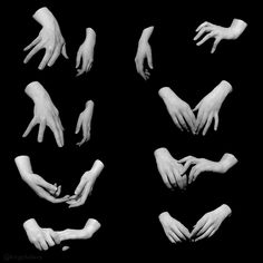 Hand pose reference for artists