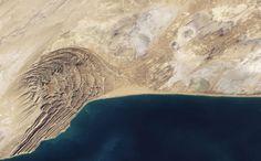 Mud volcanoes along the coast of Pakistan