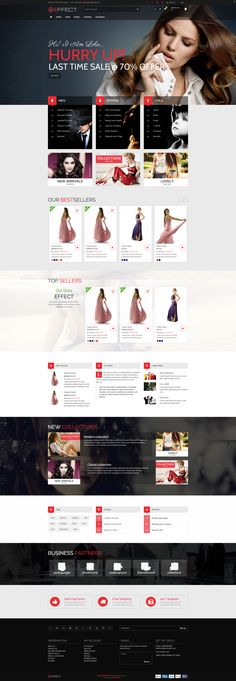 Effect is a modern and clean Responsive Shopify Theme. The HTML structure is based on Twitter's Bootstrap 3.1 framework. For styling we used CSS3 & HTML.