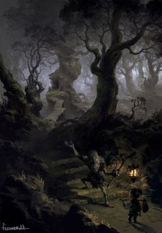 Goblin woods, Tianhua Xu on ArtStation at http://www.artstation.com/artwork/goblin-woods