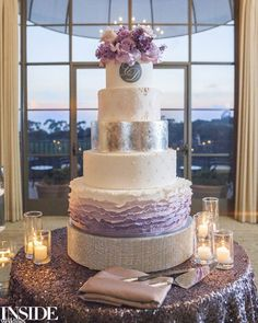 white and lavender ombre wedding cake ~  we ❤ this! moncheribridals.com