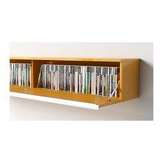 BESTÅ BURS Vegghylle - høyglans gul - IKEA
