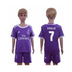 Real Madrid Fodboldtøj Børn 16-17 Cristiano Ronaldo 7 Udebane Trøje Kortærmet.  http://www.fodboldsports.com/real-madrid-fodboldtoj-born-16-17-cristiano-ronaldo-7-udebane-troje-kortermet.  #fodboldtrøjer
