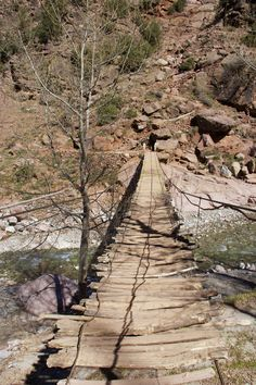 Bridge to a home in the Atlas Mountains