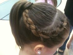 Keep your flyaways out of your face with this adorable and simple braid/ponytail combo!