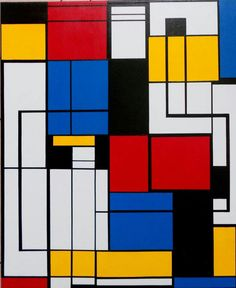 Does Piet Mondrian knows that i'm his admirer? Acrilic on canvas - 2014