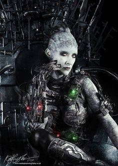 Model: Sirensong71 | Photo: Noel Taylor --- #biomechanical #future #toxicworld #apocalypse #darkart #dark