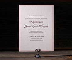 Letterpress Wedding Invitations | Simple Stripes Design | Bella Figura Letterpress
