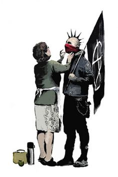 Anarchist and Mother, by Banksy