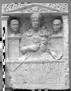 Xanten: The gravestone of Centurion M. Caelius.