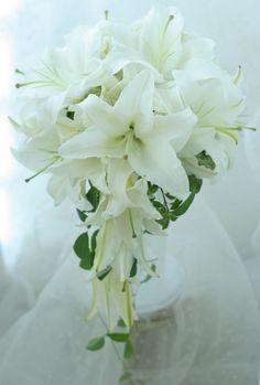 シェ松尾青山サロン様の装花 バラとユリ : 一会 ウエディングの花