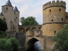 Germans' Gate Castle (Porte des Allemands) in Metz, France, dates back to the 13th century.