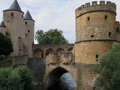 Germans' Gate Castle (Porte des Allemands) in Metz, France, dates back to the 13th century.