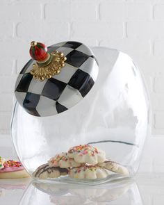 Shop Courtly Check Cookie Jar from MacKenzie-Childs at Horchow, where you'll find new lower shipping on hundreds of home furnishings and gifts. Mackenzie Childs Inspired, Mckenzie And Childs, Home And Deco, Artisanal, Glass Jars, Glass Cookie Jars, Glass Candy, Painted Furniture, Painted Dressers
