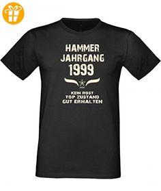 Lustiges Shirt - Hammer Jahrgang 1999 - bedrucktes T-Shirt mit Spaß Motiv als Geschenk zum Geburtstag in Schwarz, Größe:L (*Partner-Link)