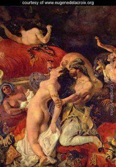 Death of the Sardanapal (detail) - Eugene Delacroix - www.eugenedelacroix.org