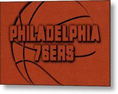 76ers Metal Print featuring the photograph Philadelphia 76ers Leather Art by Joe Hamilton