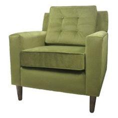 Skyline Furniture Clybourn Loft Chair - Green Velvet