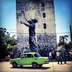 Foto: • ARTIST . JR •  ◦ Wrinkles of the City ◦ collaboration: JOSÉ PARLA location: Havana, Cuba