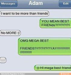 Friend zoned level: mega lol