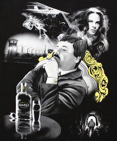 El Chapo Guzman Y Kate Del Castillo Men's T-Shirt - tees geek Pablo Escobar, Pablo Emilio Escobar, Chicano Tattoos, Chicano Art, Joaquin Guzman, Mexican Drug Lord, Aztecas Art, Chapo Guzman, Art Restaurant