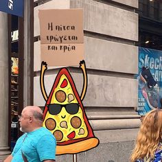 🍕Pizza with sign Pizza Sign, Vol 2, Funny Moments, In This Moment, Signs, Blog, Shop Signs, Blogging, Sign