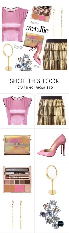 """""""Shine On"""" by meyli-meyli ❤ liked on Polyvore featuring BCBGMAXAZRIA, Christian Louboutin, Urban Decay, Decor Walther and Bobbi Brown Cosmetics"""
