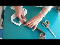 How to make a toothbrush (Amish knot) rag rug - tutorial - YouTube