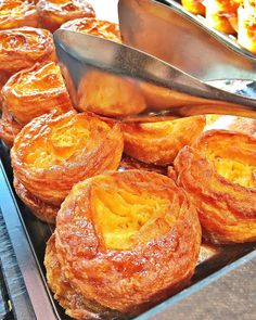 Kouign Amann from Maison Georges Larnicol in Paris - caramelized sugary croissants - a MUST in Paris!