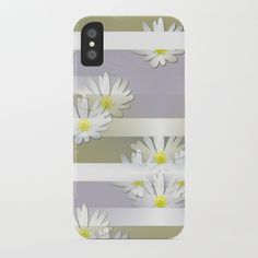 Mix of formal and modern with anemones and stripes 4 iPhone Case by mokkihopero Cool Phone Cases, Iphone Cases, Stripes, Modern, Art, Art Background, Trendy Tree, Kunst, Iphone Case