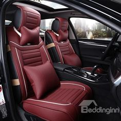 Casual Business Style Comfortable Design Leather Universal Car Seat Covers