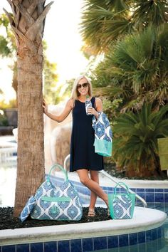 """New! Our new Monogrammed Boho Beach Bag is not only beautiful but is the perfect sized personalized beach bag to carry all of your necessities to the beach or pool this travel and outdoor recreational season! Our Boho Collection is a """"must have"""" to complete your resort look! www.beaujax.com"""
