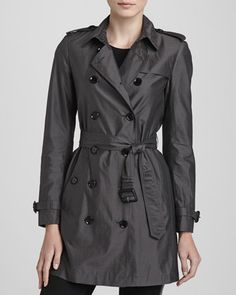 Lightweight Mulberry Silk Trenchcoat by Burberry London at Bergdorf Goodman.