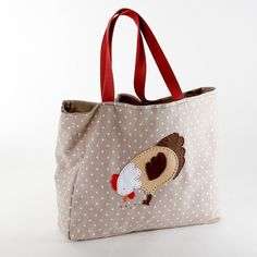 Tote bag with zipped divider and pocket by Debbie Shore