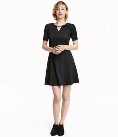Ribbed Jersey Dress   Black   Ladies   H&M US