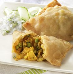 Vegetable Samosas-try making these using won ton wrappers and baking to eliminate the oil from this recipe