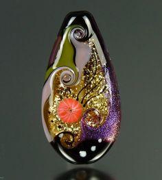 Jute - Lampwork bead by Beverley Edge (Pegasus Lampwork on Flickr)