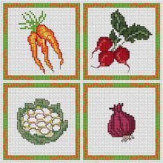 punto croce schemi frutta - Cerca con Google