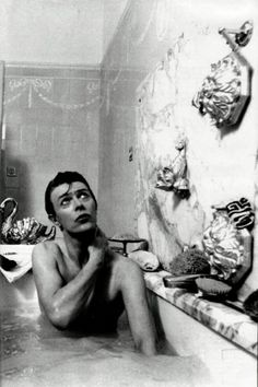 David Bowie in the bath
