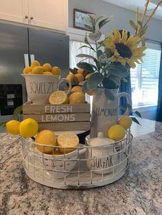 Kitchen Spring Decor Ideas #kitchendecor Little lemonade stand in the kitchen spring.