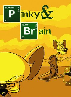 Mauro Vila Real: Breaking Bad and Pinky and the Brain Looney Tunes Wallpaper, Funny Phone Wallpaper, Dope Cartoons, Dope Cartoon Art, Cartoon Crossovers, Cartoon Characters, Breaking Bad, Right In The Childhood, Disney Monsters