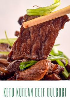 Bulgogi is a sweet and savory Korean dish. This keto Korean beef bulgogi removes the sugar, but keeps the absolutely delicious taste! Rib Recipes, Side Dish Recipes, Low Carb Recipes, Recipies, Asian Recipes, Easy Recipes, Boneless Beef Short Ribs, Beef Ribs, Bulgogi Recipe