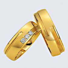 Verighete din aur galben cu briliante si interiorul rotunjit pentru confort la purtare. Pot fi realizate din aur alb, aur galben sau aur roz. La cerere sunt posibile şi alte modificări. Aur, Floral, Rings, Jewelry, Wedding, Wedding Ring Set, White Gold, Valentines Day Weddings, Jewlery