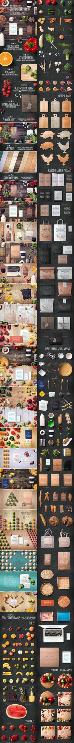 Graphicriver - Organic Food Mockup & Hero Images Scene Generator - 12125621