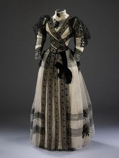 Half-Mourning Dress 1889-1892. To be worn the 2nd year of mourning after a relative died.