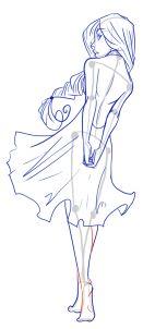 como desenhar figuras femininas, desenhar fêmea passo corpos 20