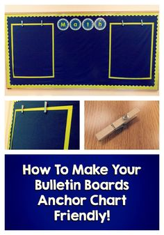 Ideas for setting up anchor-chart friendly bulletin boards! I can put my center signs and student groups in the middle with anchor charts on each side with our focus of the week/unit! 4th Grade Classroom, Classroom Bulletin Boards, Classroom Setting, Classroom Displays, Classroom Setup, Classroom Environment, Kindergarten Classroom, School Classroom, Classroom Design